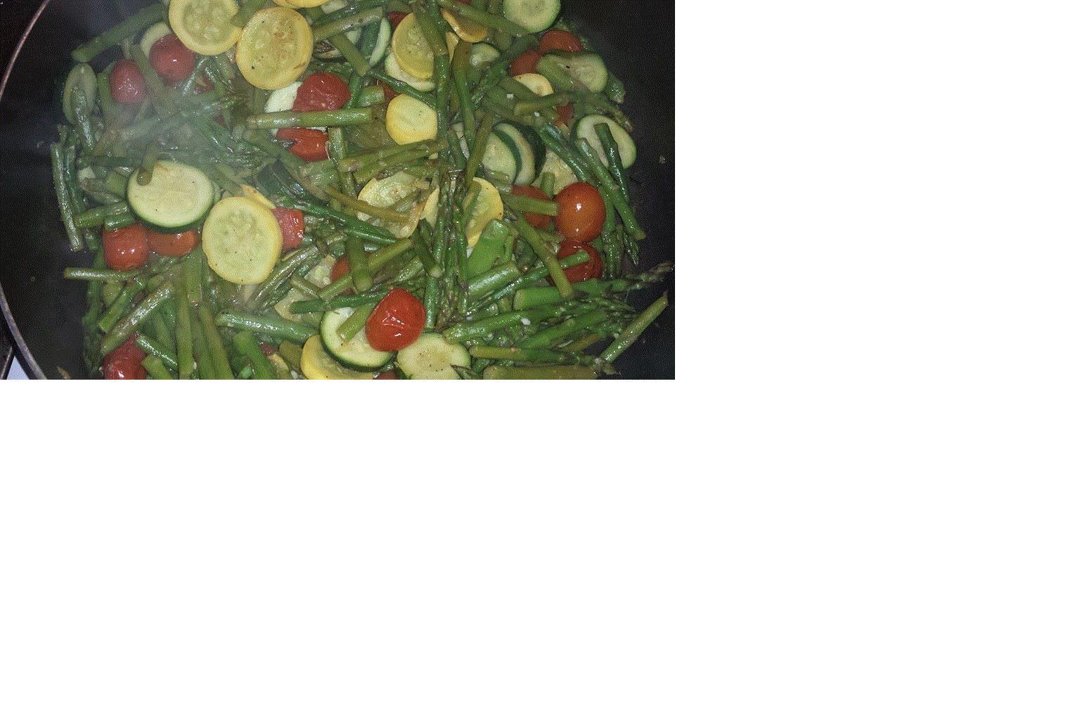 Roasted Asparagus, Zucchini, and Tomatoes Vicki B