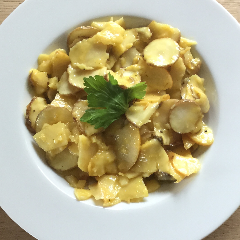 Vegan Raw Sunchoke Salad with Apples