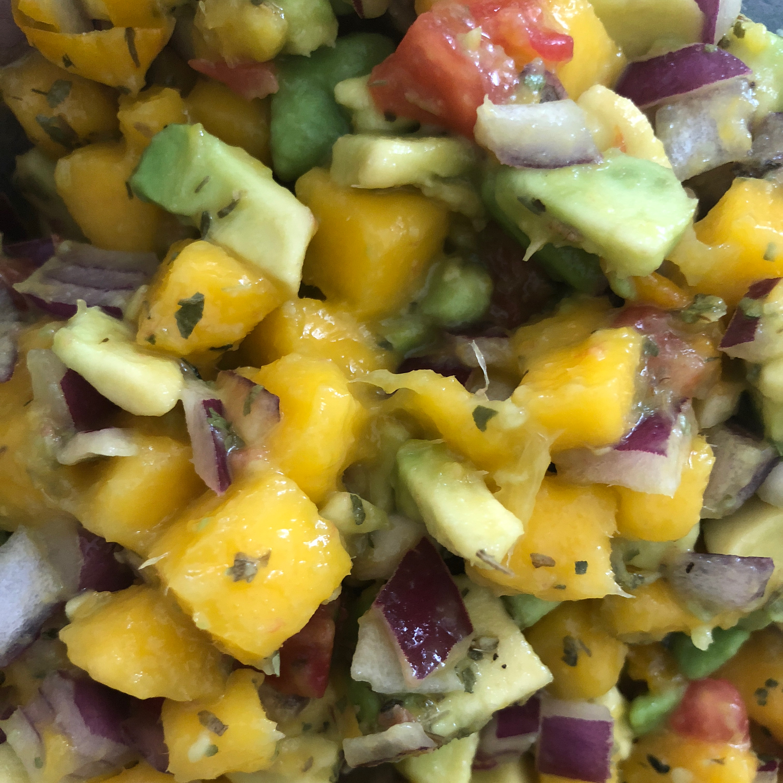 Refreshing Avocado, Tomato, and Mango Salsa Zonelle