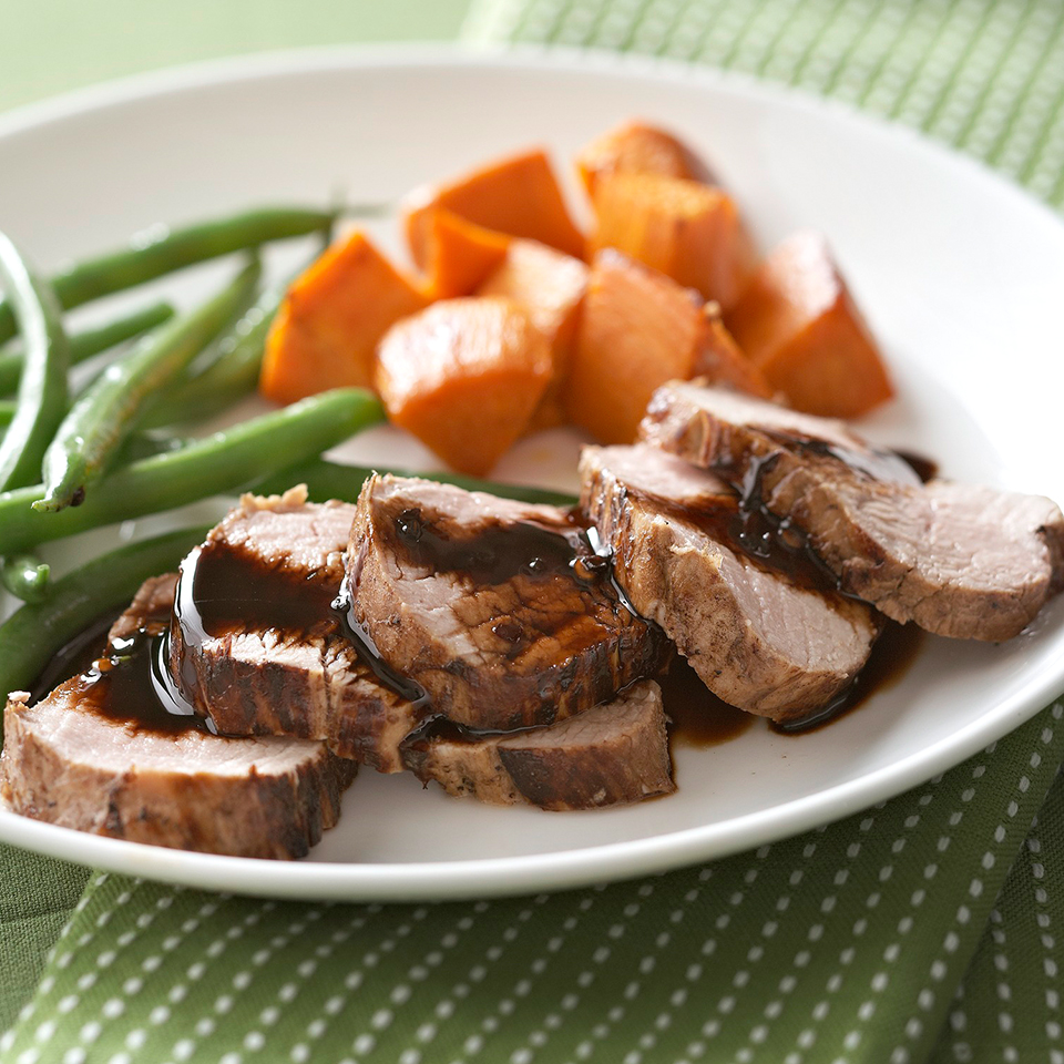 Root Beer-Marinated Pork Tenderloin with Sweet Potatoes Diabetic Living Magazine