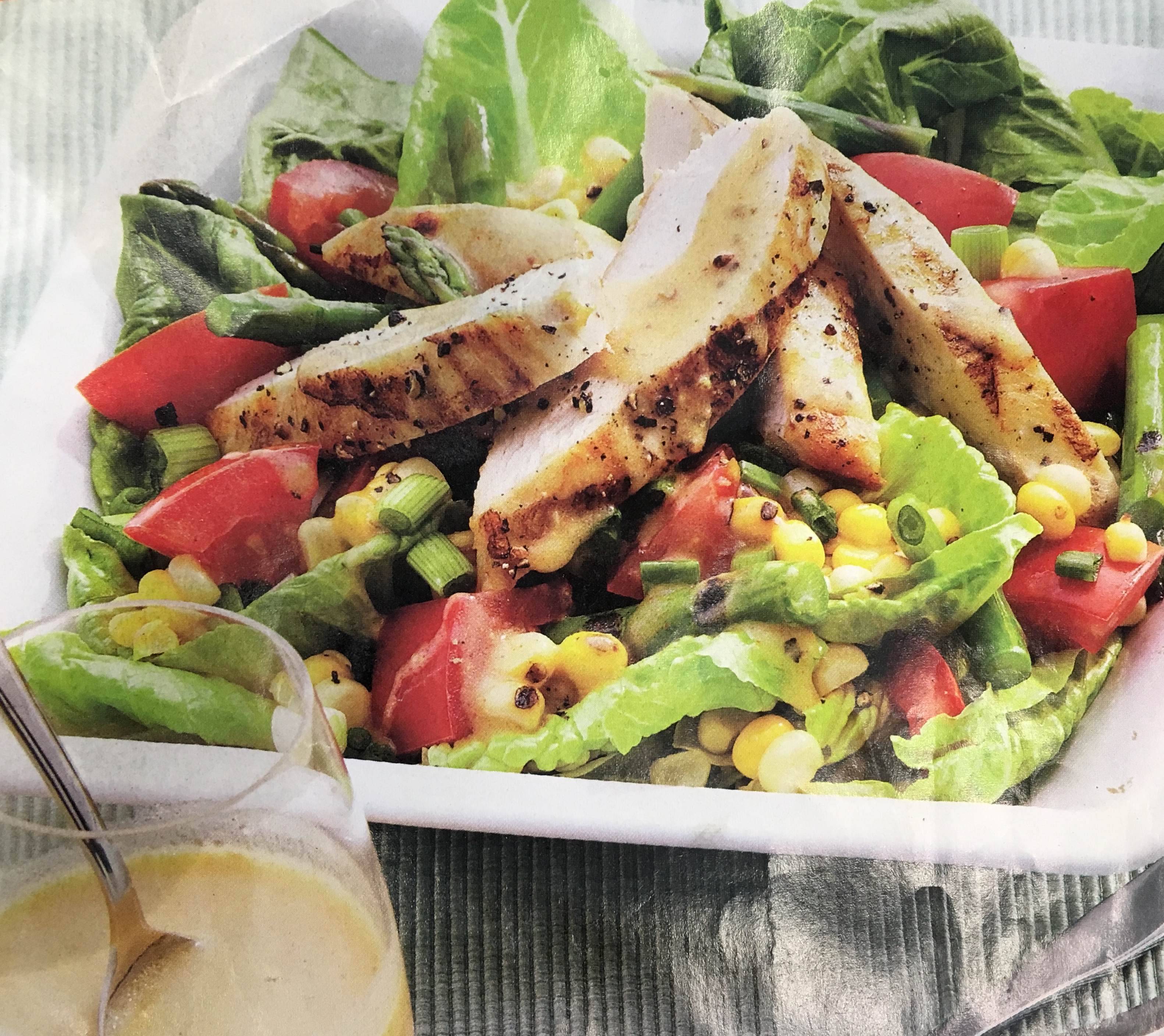Grilled Chicken and Charred Corn Salad Dawn
