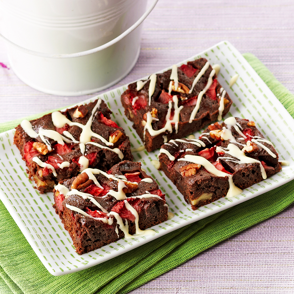 Strawberry Fudge Brownies Trusted Brands