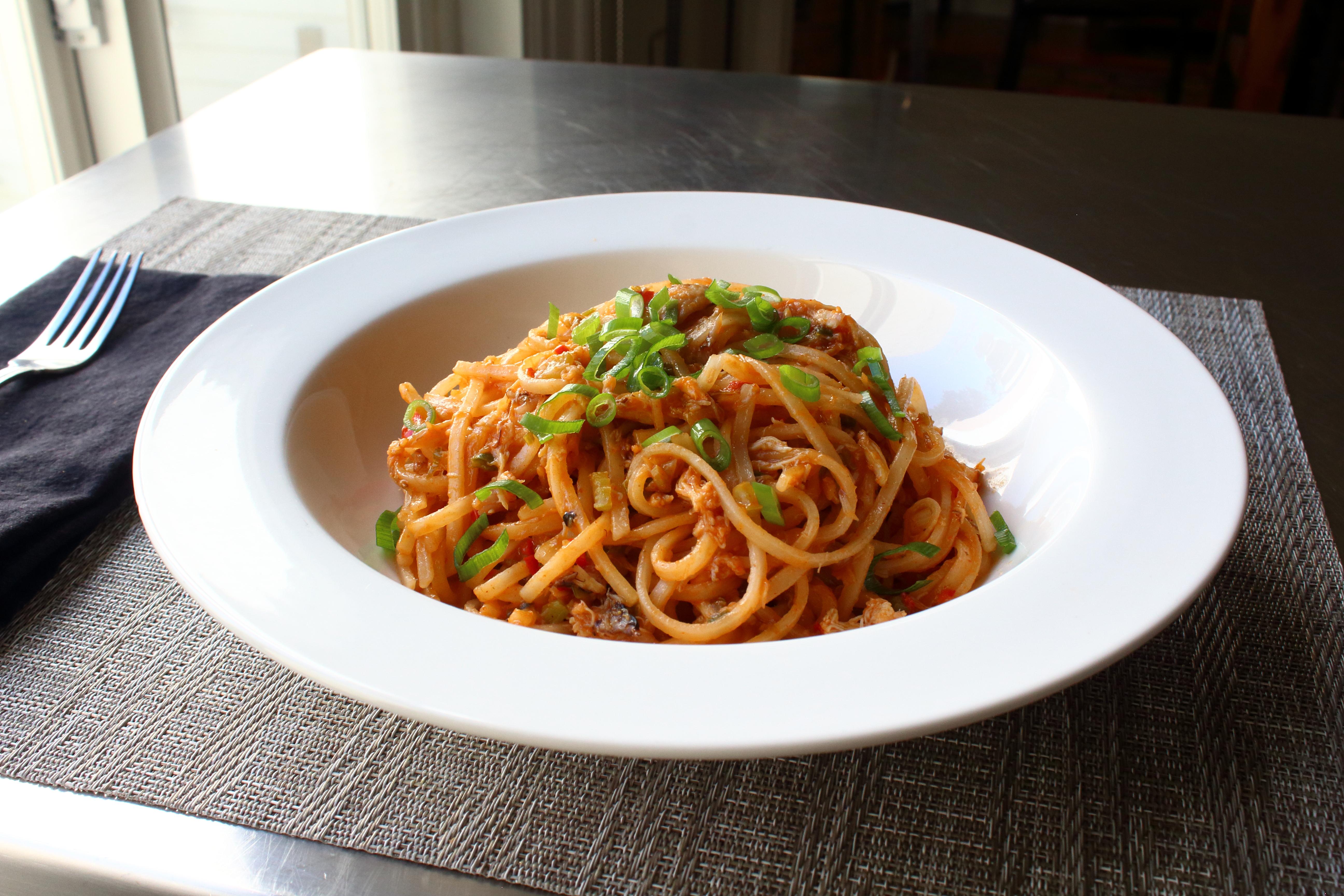 Creole Crab Noodles
