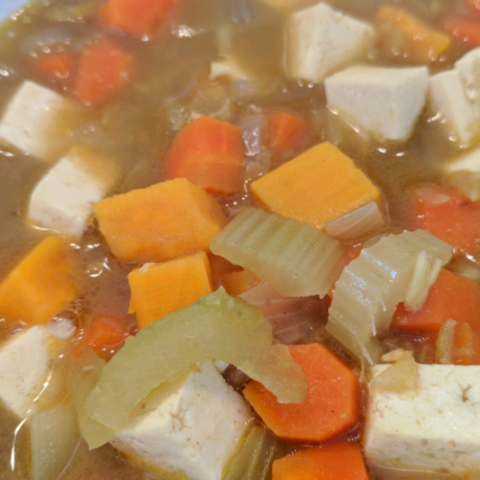 Vegetable Tofu Soup with Lemongrass and Coconut Milk Mary Zink