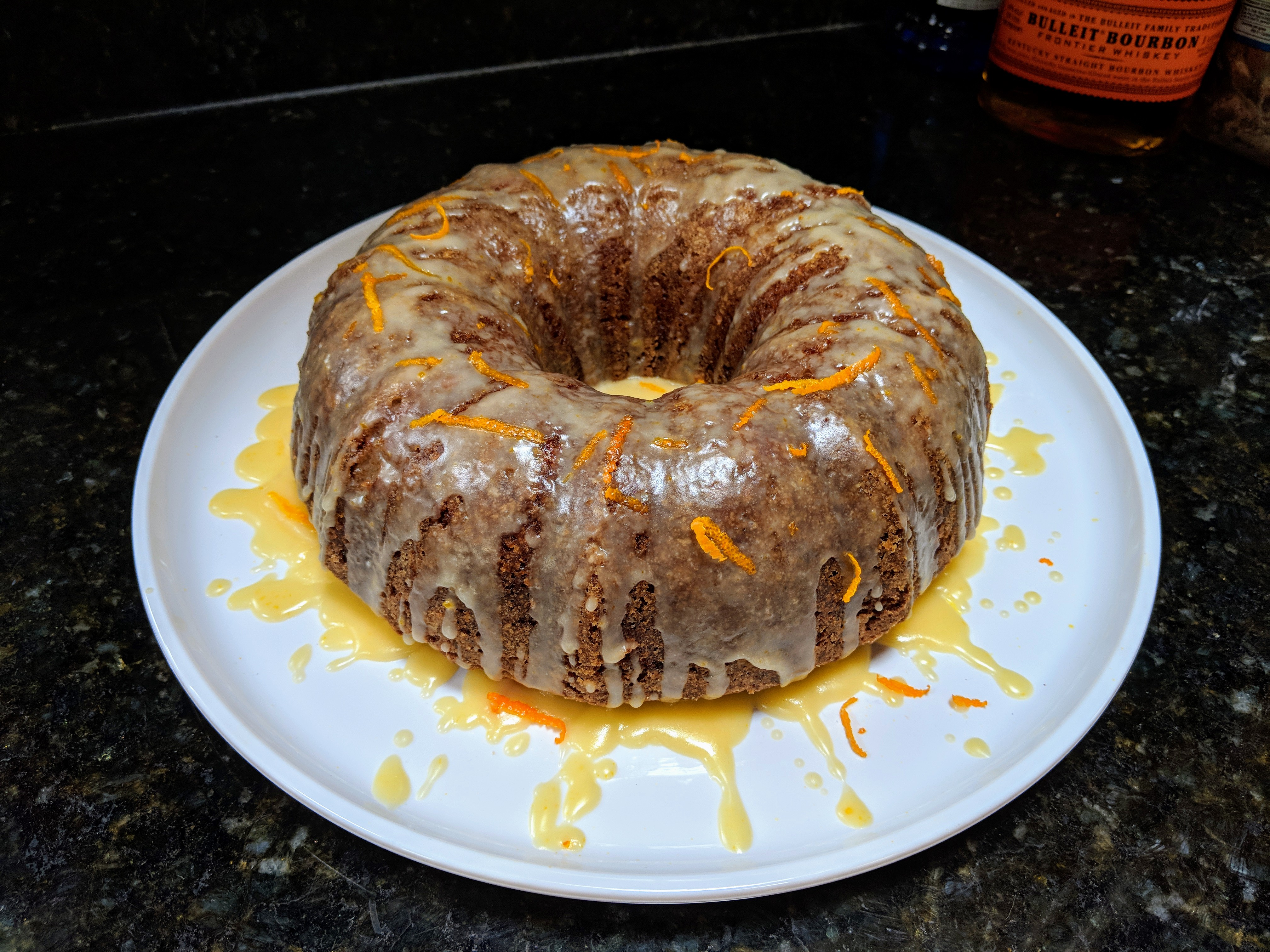 Carrot Bundt® Cake with Orange-Bourbon Glaze