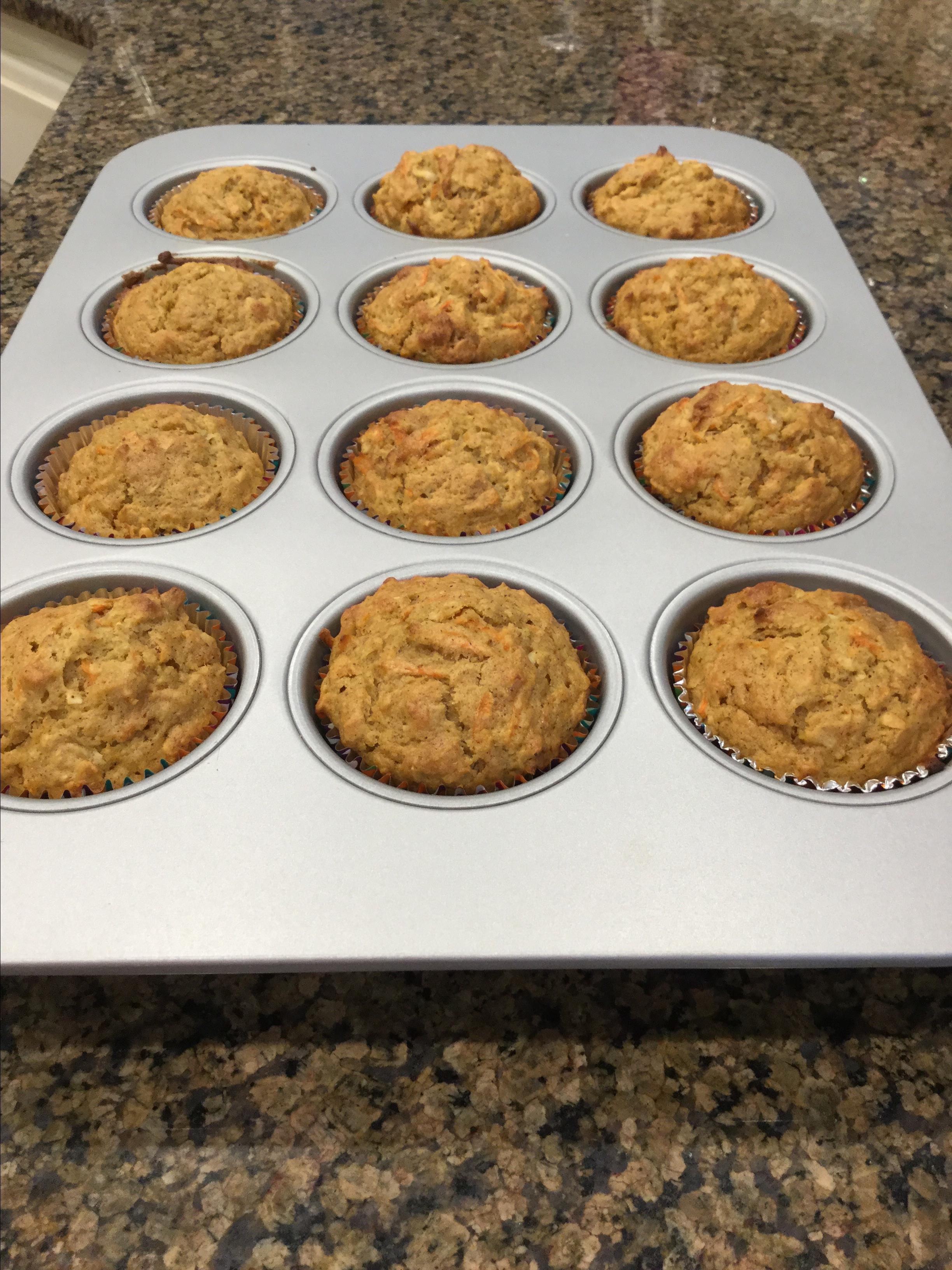 Carrot Morning Glory Muffins (Gluten Free Optional) amyg479