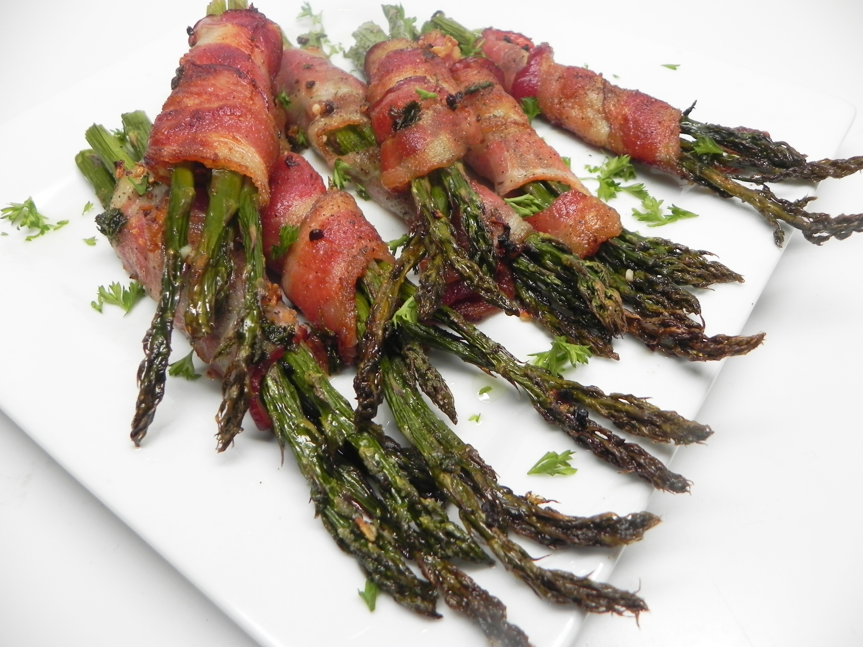 Bacon-Wrapped Garlic Asparagus Soup Loving Nicole