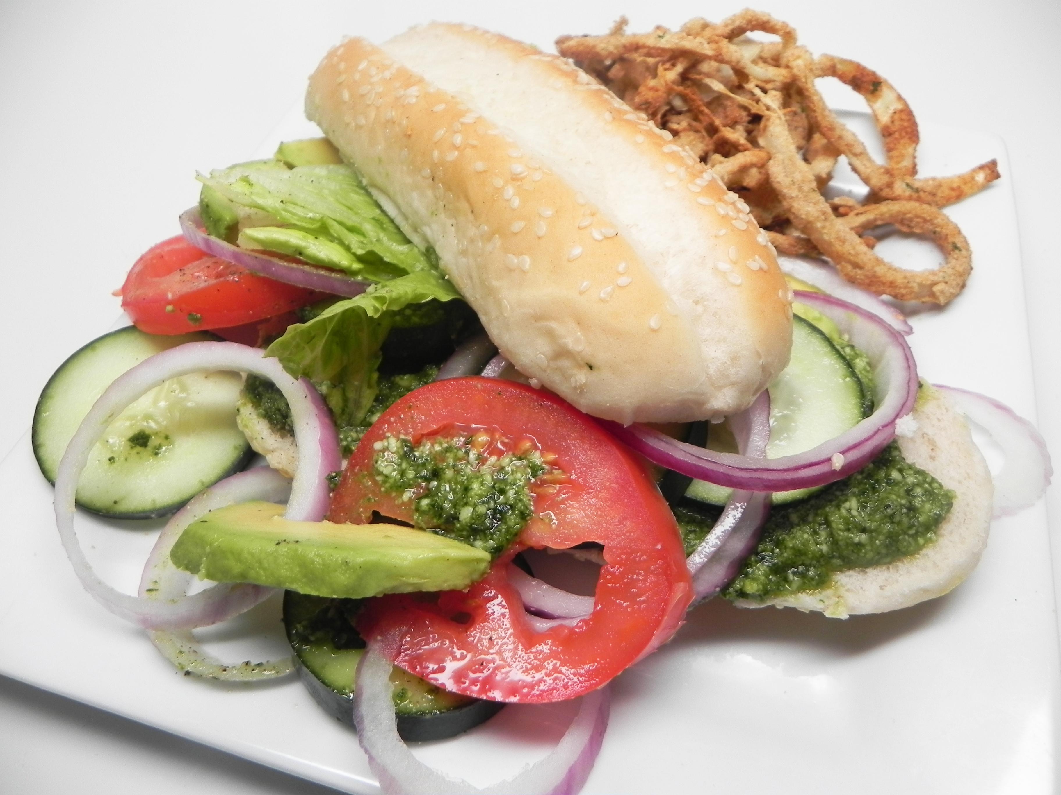 Tasty Vegan Guacamole Sandwich