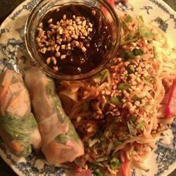 Thai Basil Rolls with Hoisin-Peanut Sauce WeekendWarrior