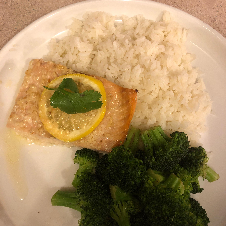 Garlic Lemon Butter Salmon Sinful.Egg