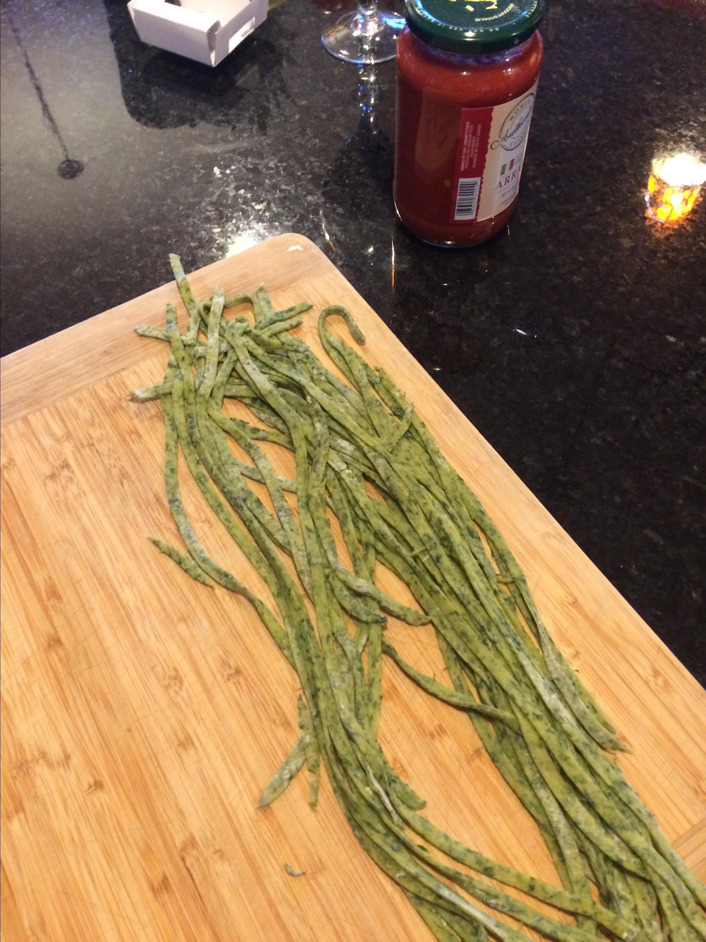 Homemade Spinach Pasta Vonabe