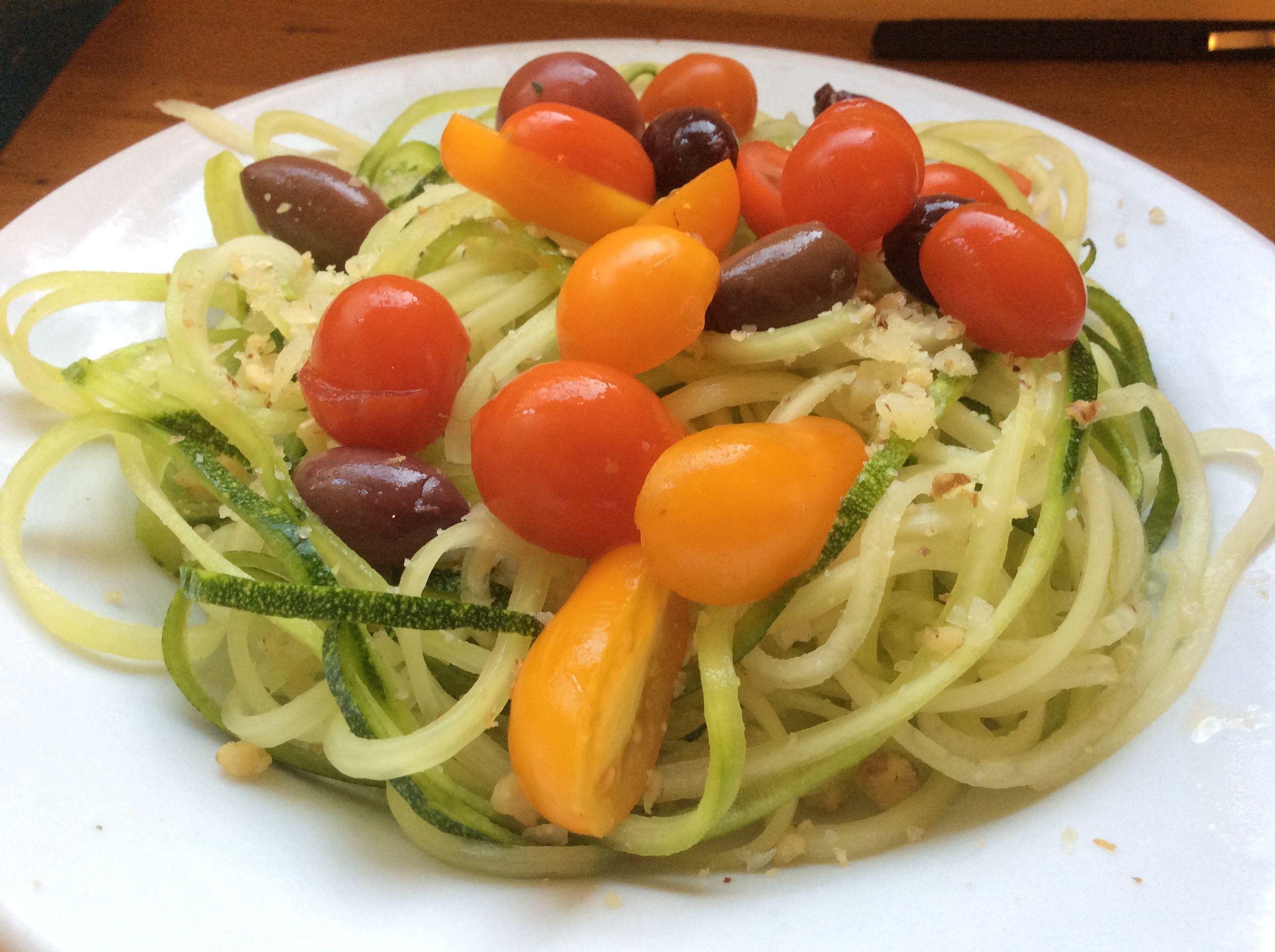 Quick Zucchini Noodles with Pesto AllrecipesPhoto