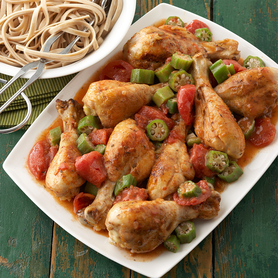 Louisiana Chicken Drumsticks and Tomatoes Trusted Brands