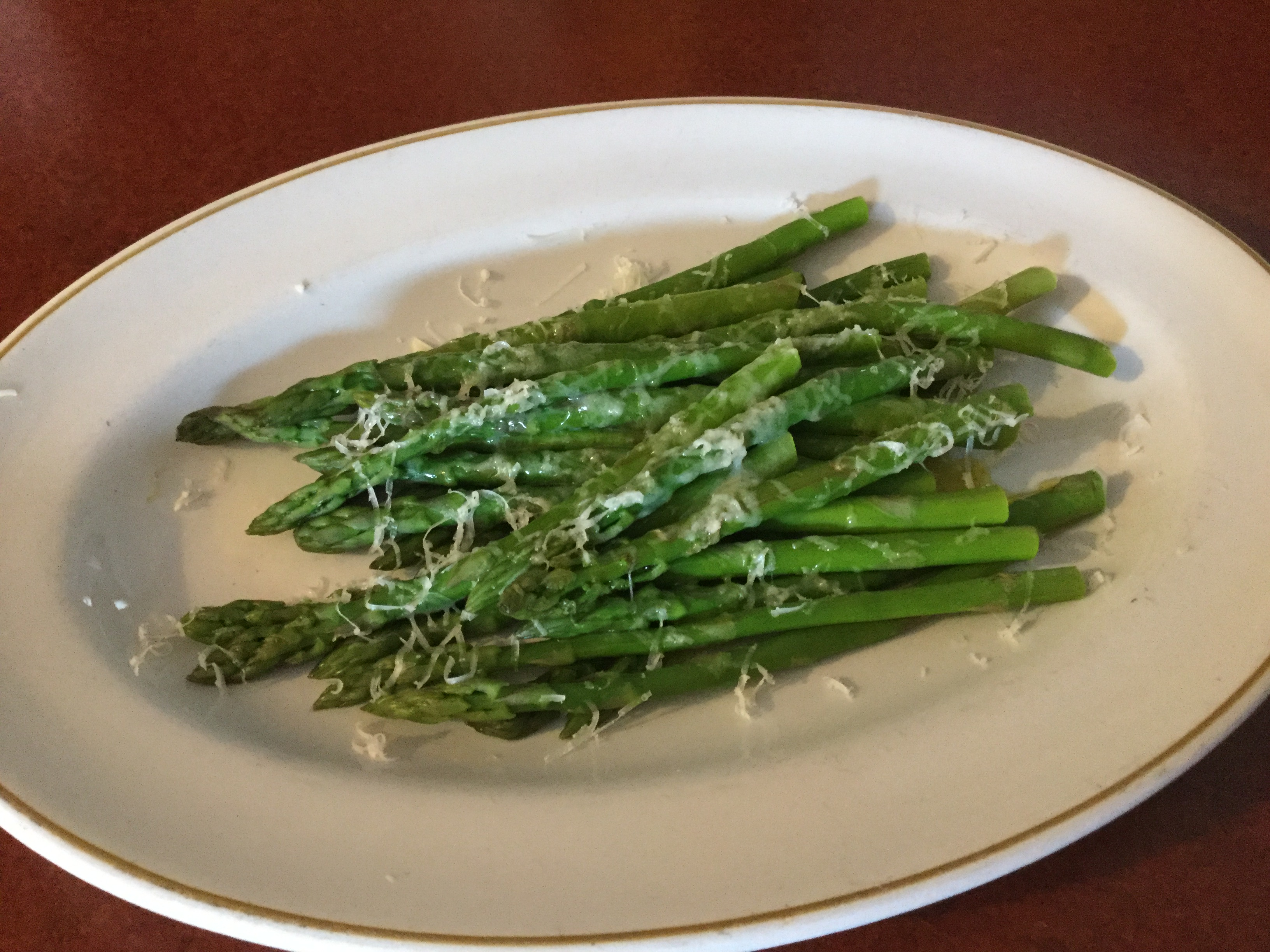 Broiled Asparagus with Goat Cheese