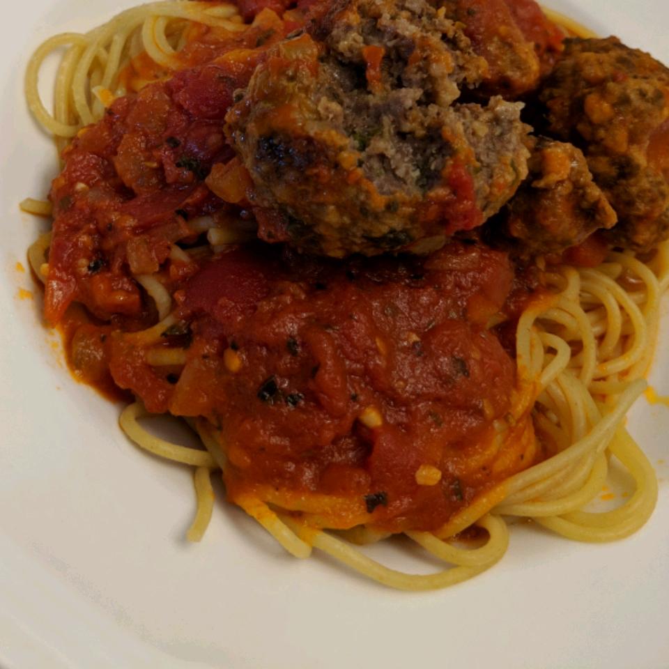 Healthier Italian Spaghetti Sauce with Meatballs Mandi Gibson