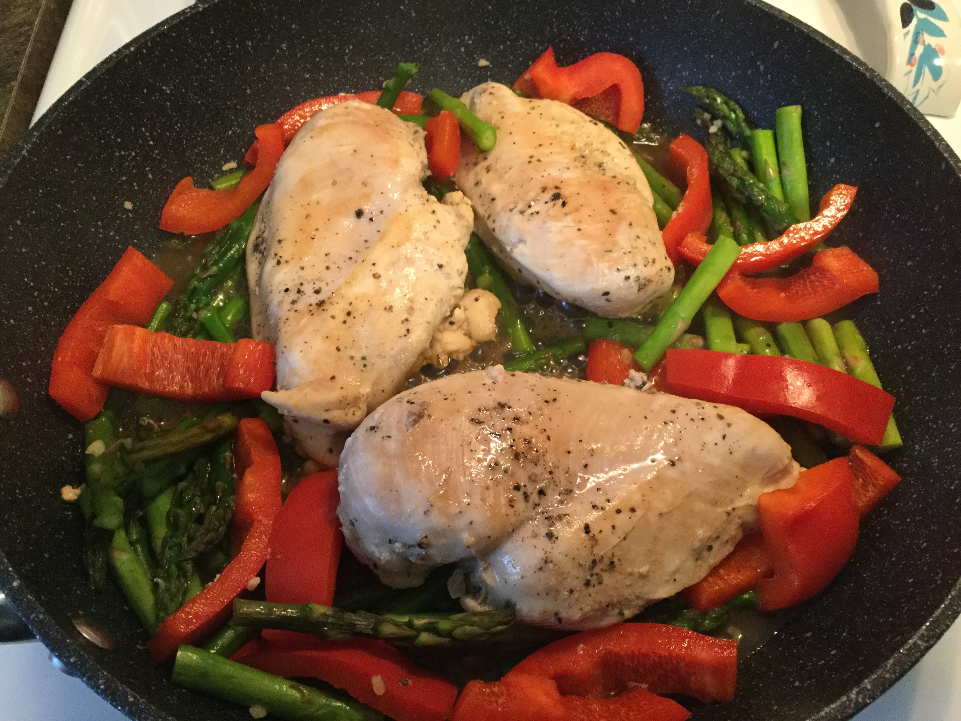 Chicken with Asparagus and Roasted Red Peppers Sonya Twyne