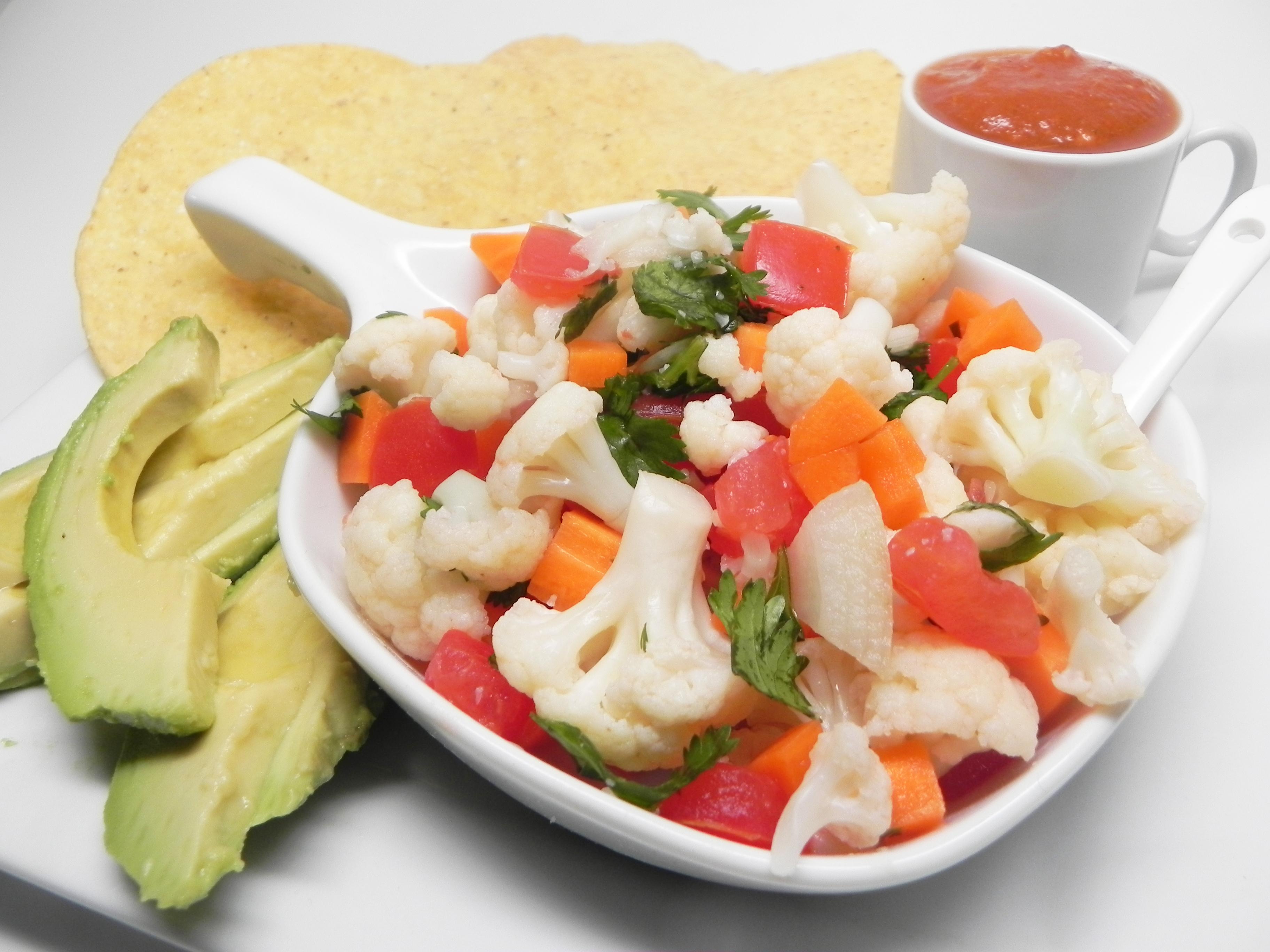 Easy Cauliflower Ceviche