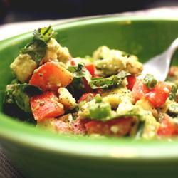 Cilantro, Avocado, Tomato, and Feta Salad