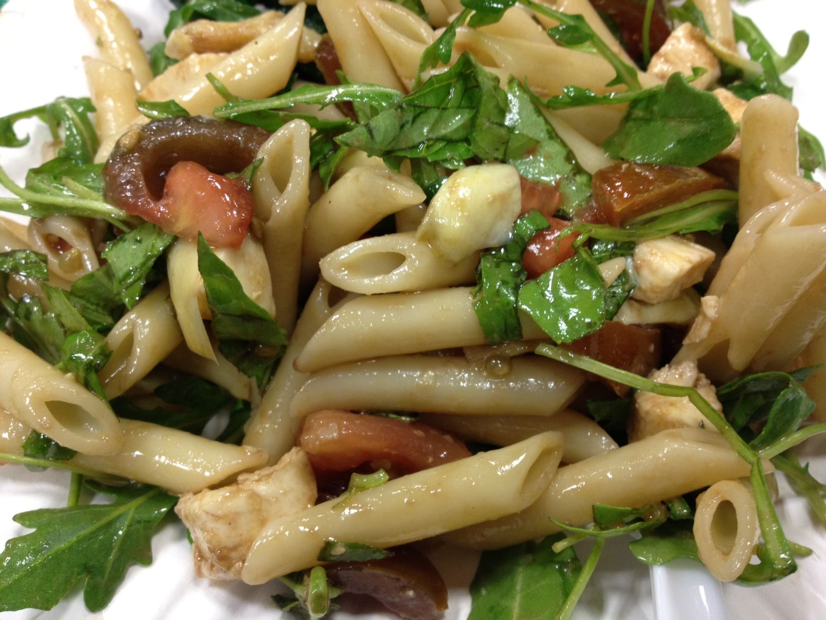 Vegetarian Italian Pasta Salad with Arugula