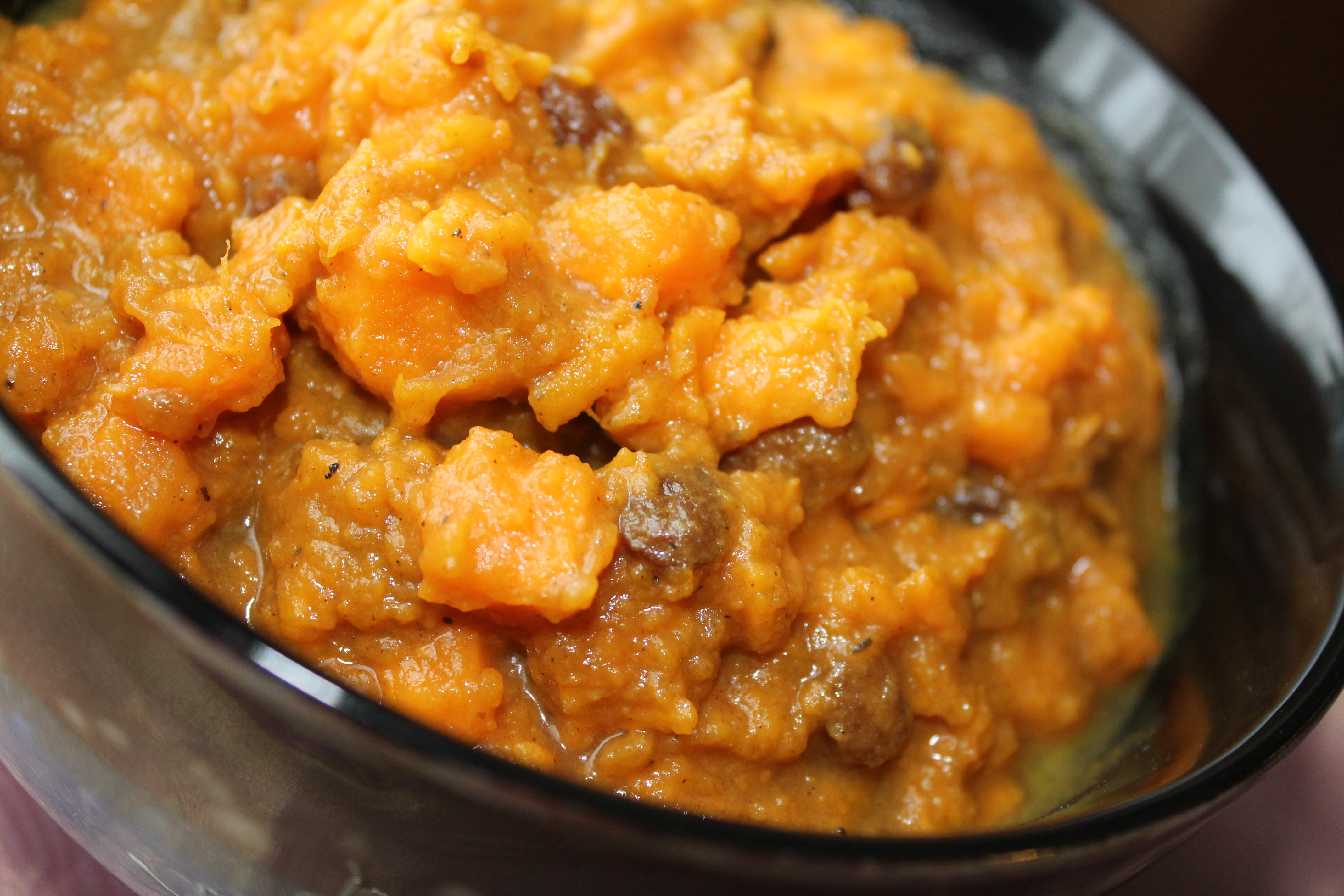 Moroccan Sweet Potato and Raisin Salad