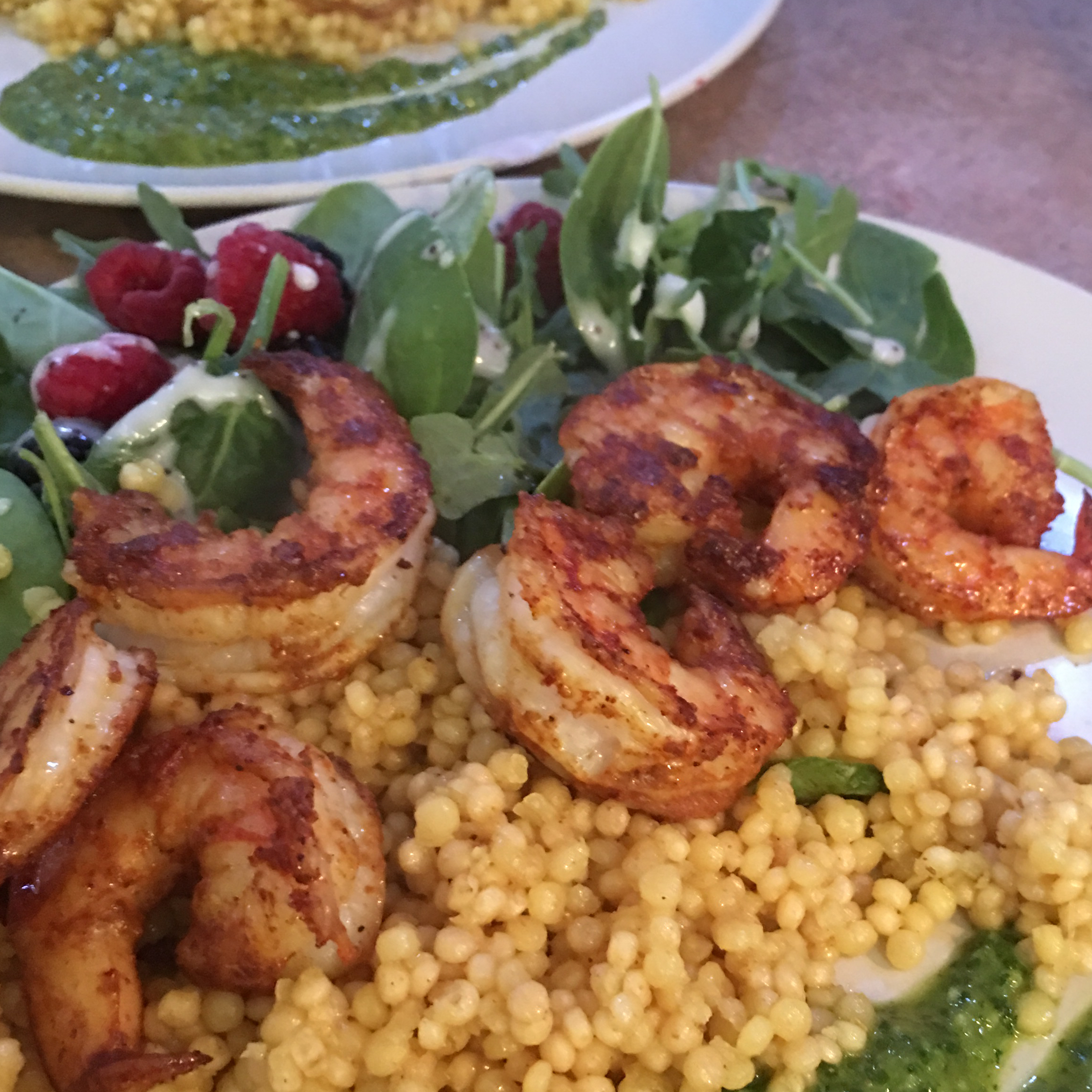 Spiced Couscous with Shrimp and Chermoula Cyndi