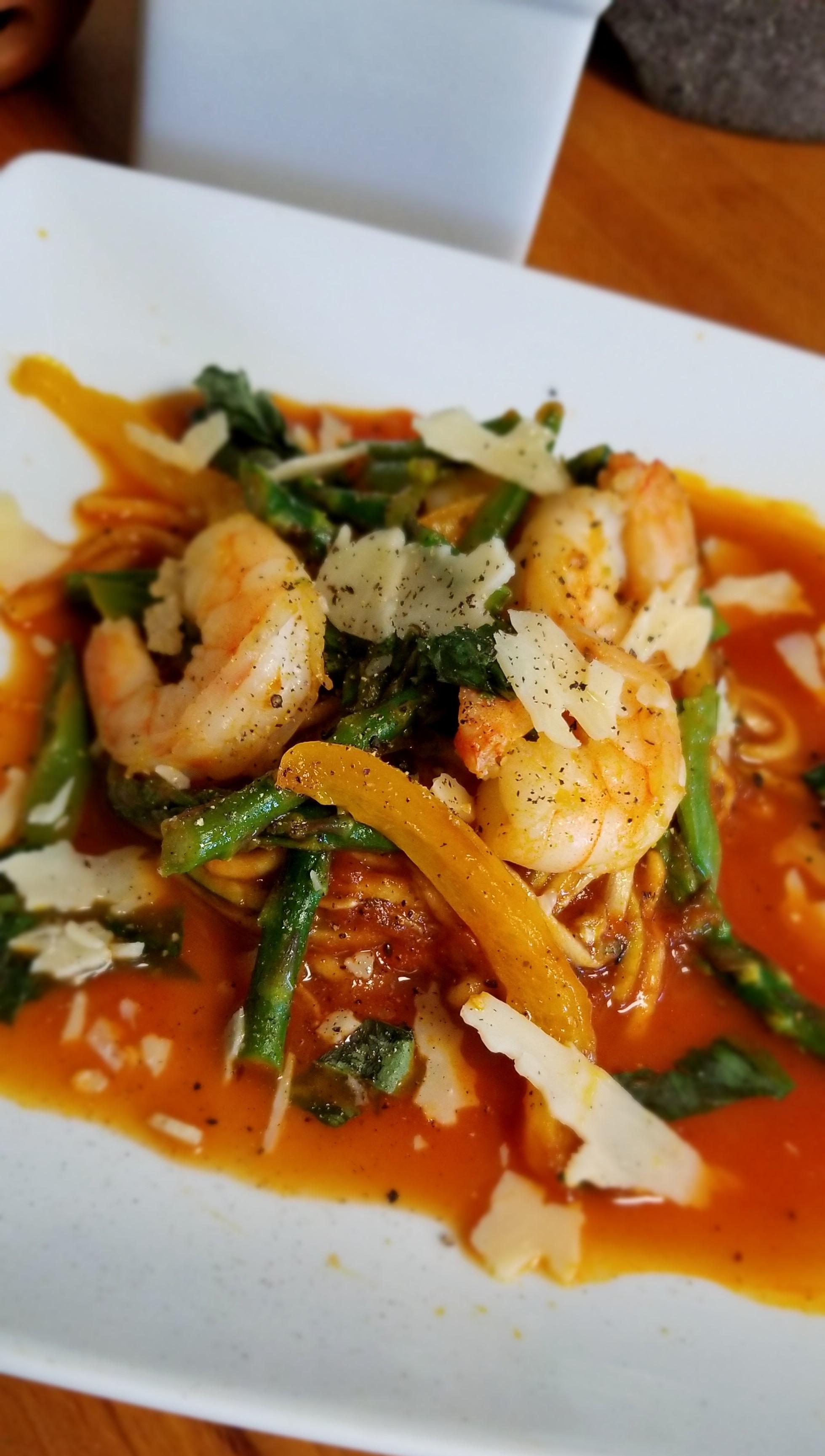 Tomato Shrimp with Zucchini Noodles