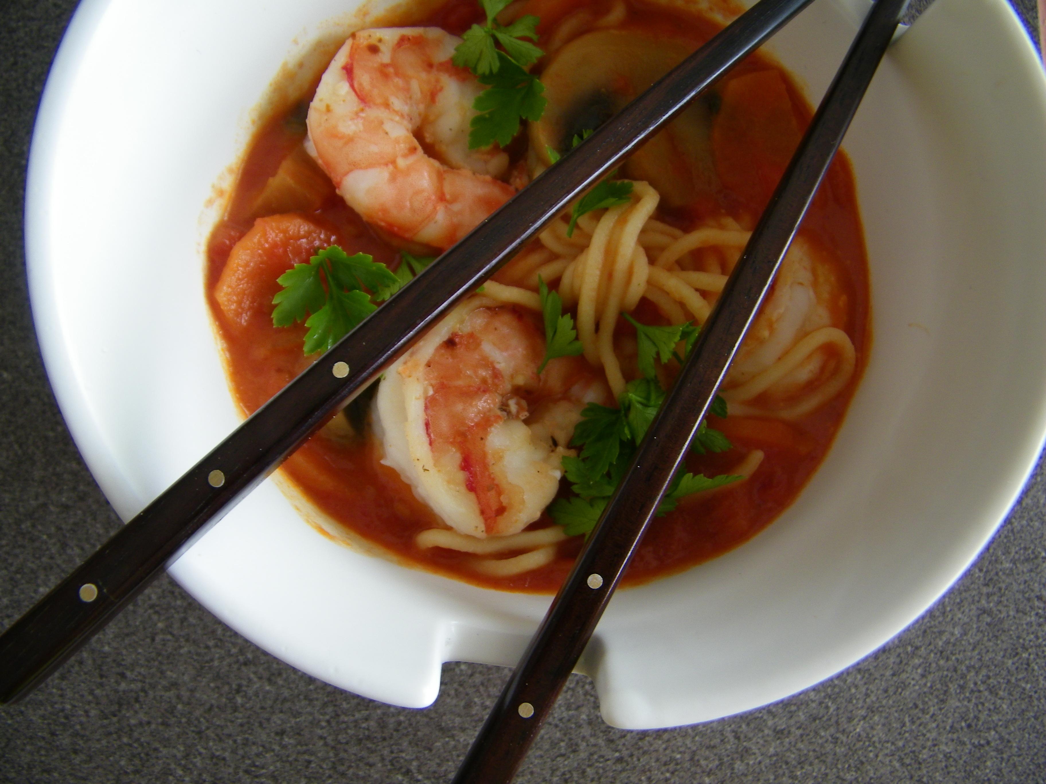 Spicy Coconut Shrimp Bisque