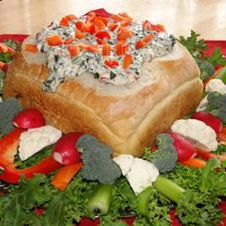 Hot Spinach Red Pepper Dip Carson
