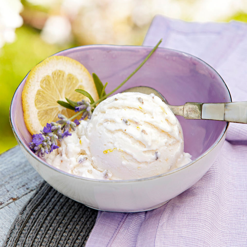 Lemon-Lavender Frozen Yogurt Trusted Brands