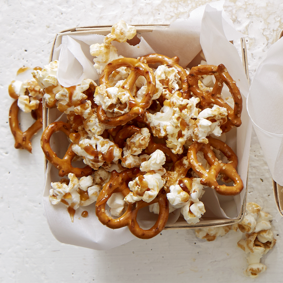 Salted Caramel and Pretzel Popcorn Trusted Brands