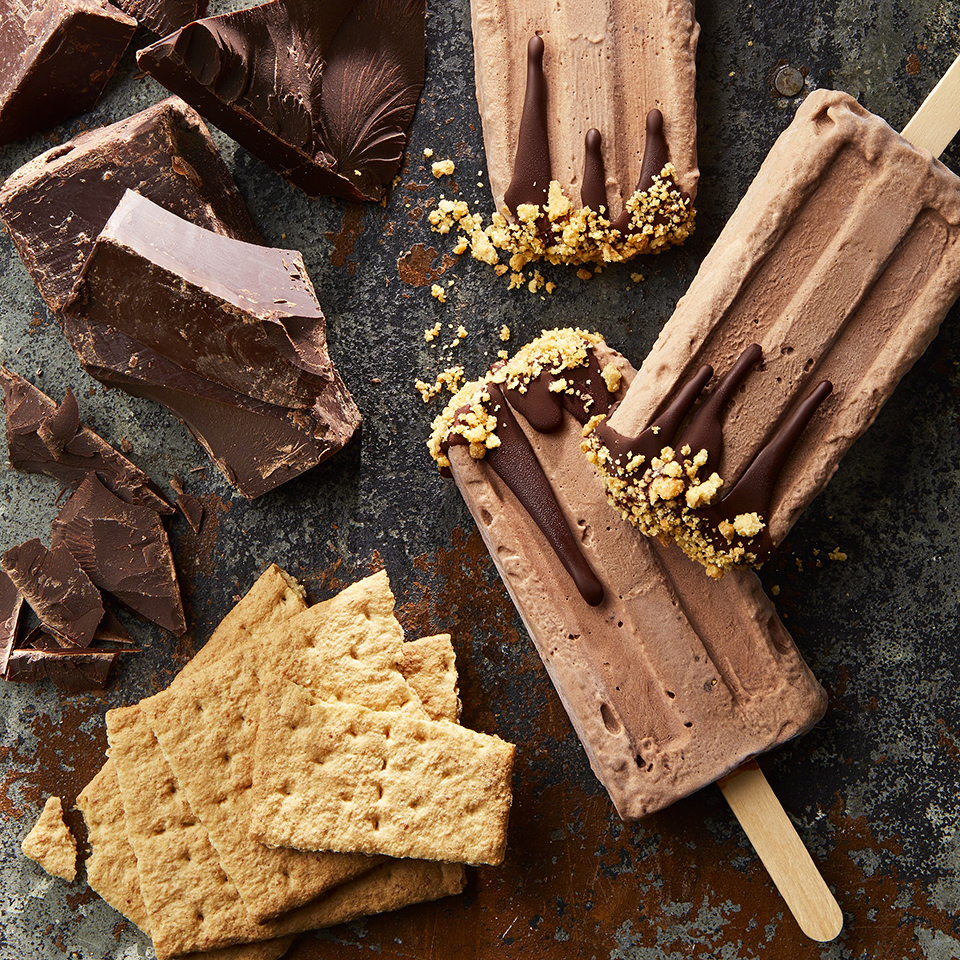 Creamy Chocolate Pie Ice Pops Trusted Brands