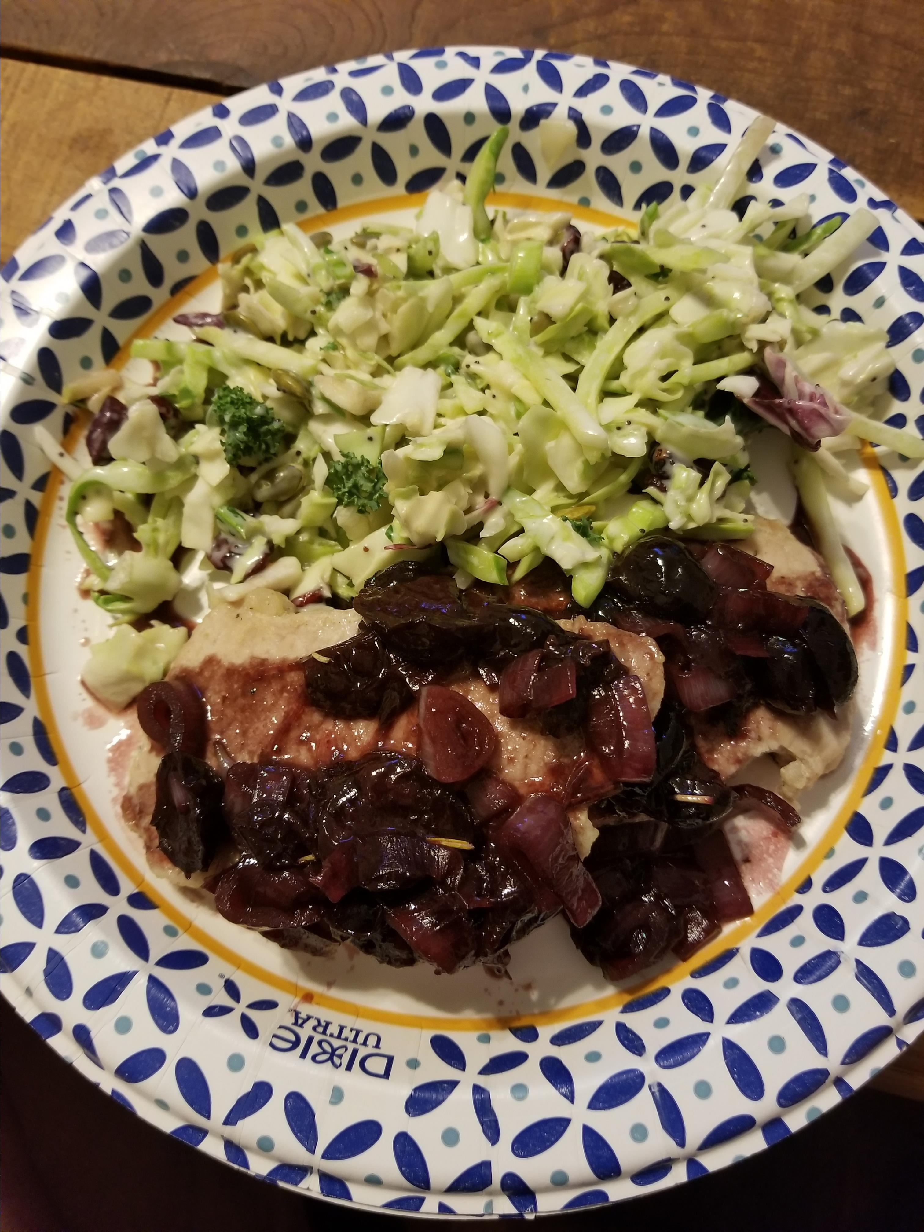 Pork Chops With Black Cherry Sauce Susanne Hubbell
