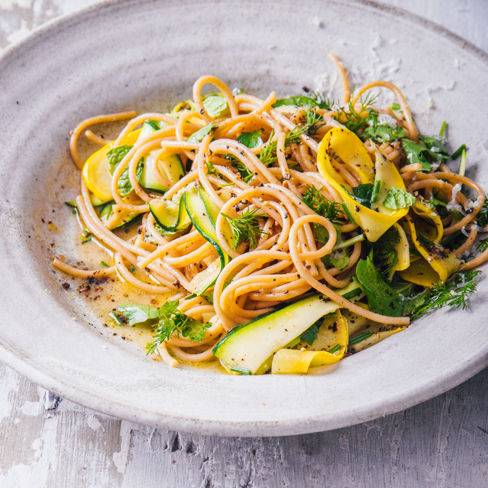 Lemon-Pepper Linguine with Squash Trusted Brands