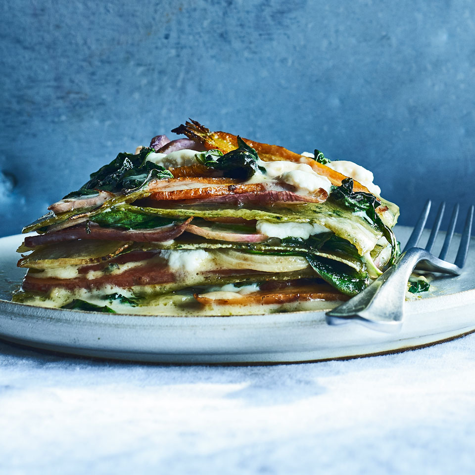Spring Vegetable Lasagna with Fresh Spinach Pasta Allrecipes Trusted Brands