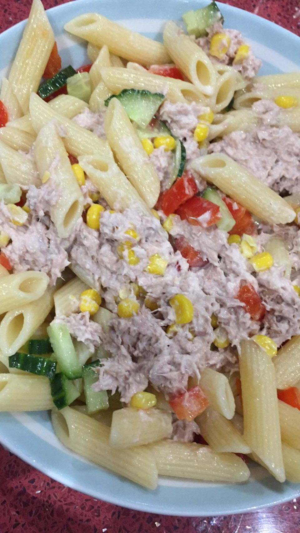 Tuna Pasta Salad with Egg