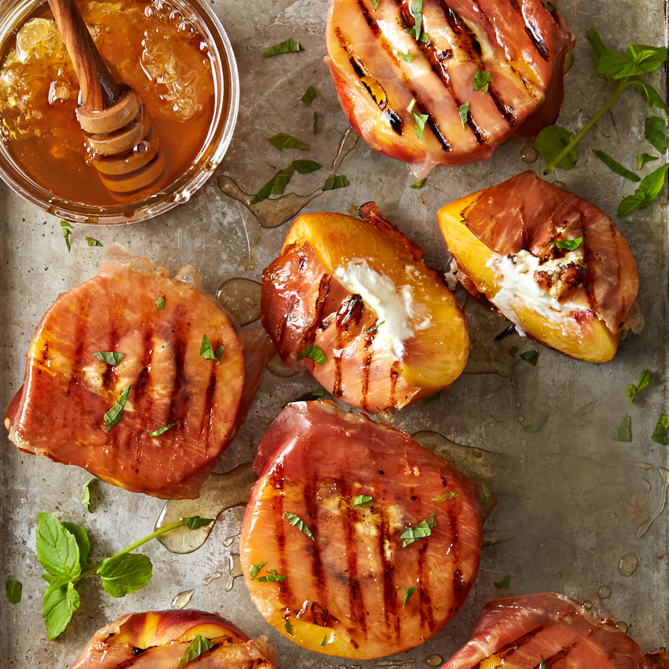 Grilled Prosciutto Peaches Trusted Brands