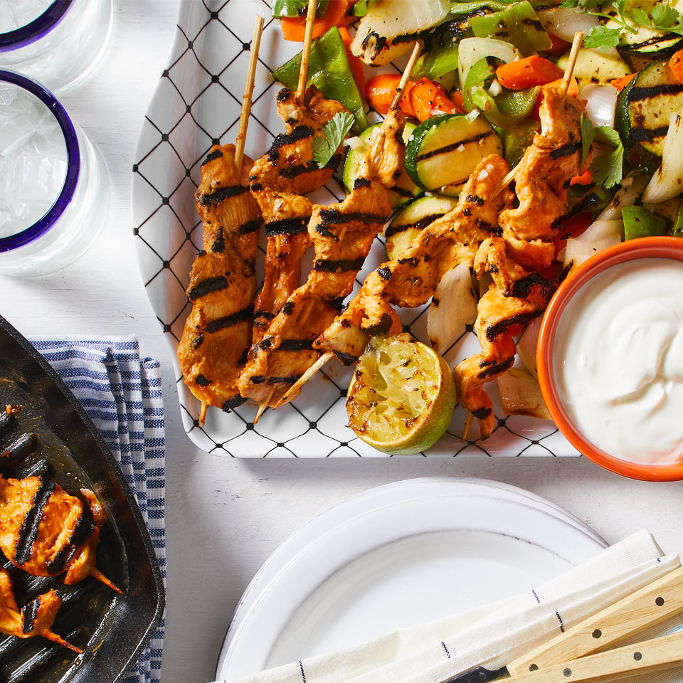 Chipotle Chicken Satay with Grilled Vegetables Trusted Brands