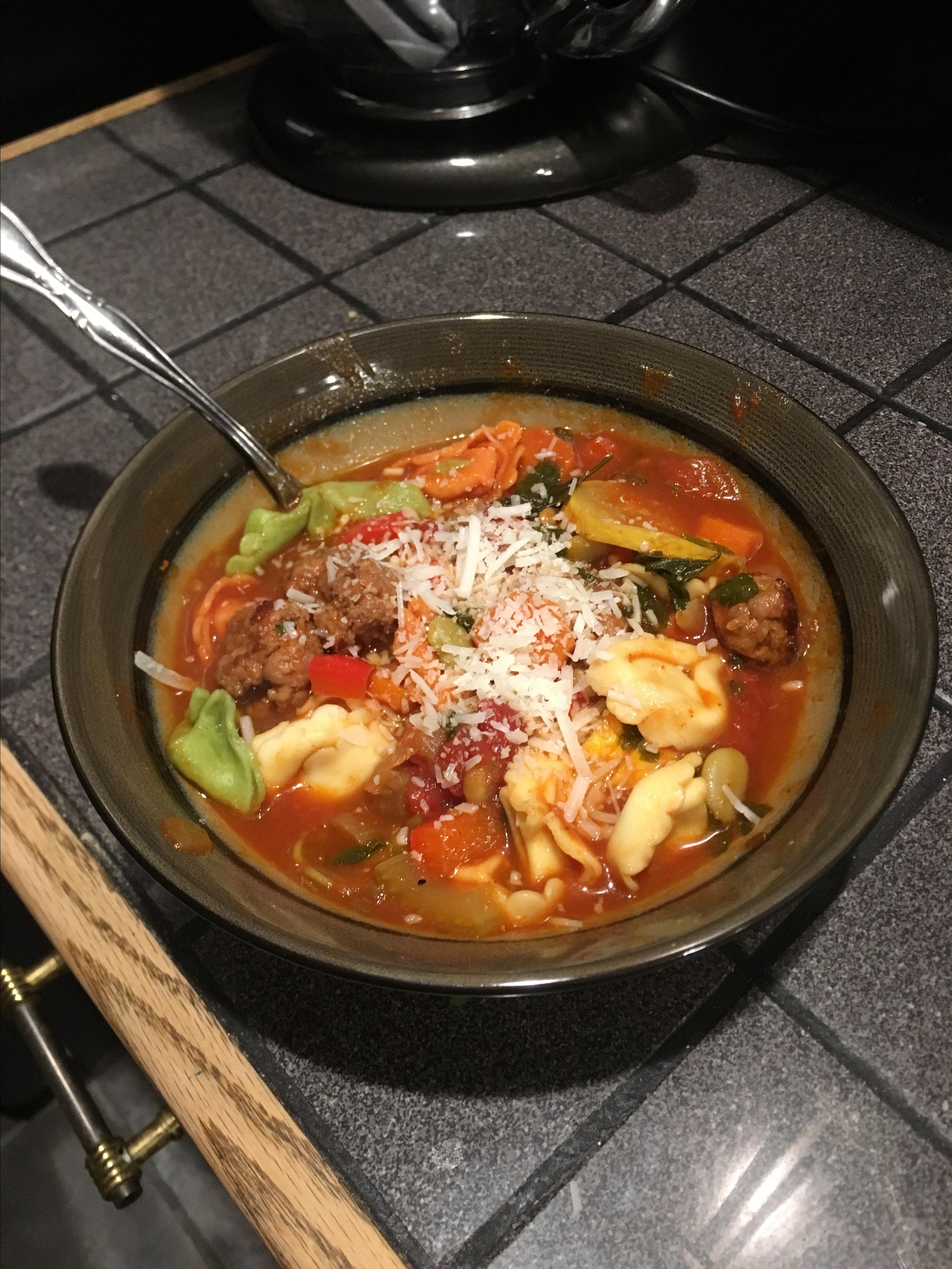 Charlotte's Tortellini Soup
