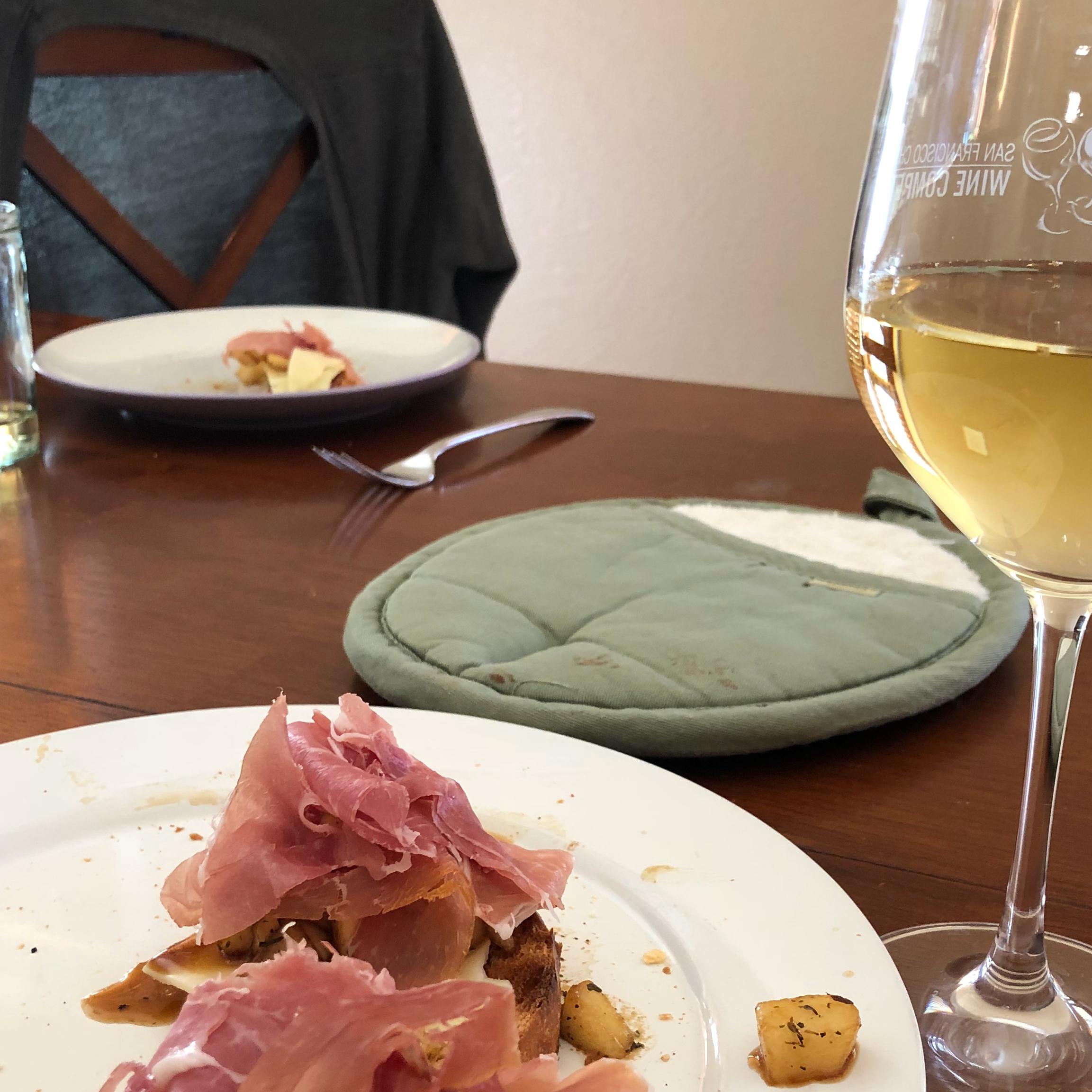 Pear and Prosciutto Bruschetta