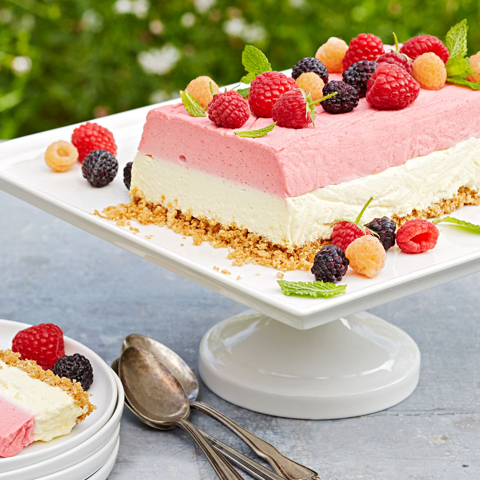 You can use a mix of berries as the topping for this classic summertime dessert-we like combining regular raspberries, golden raspberries, and blackberries. Look for golden raspberries at farmers' markets or farm stands at the height of summer. Source: Diabetic Living Magazine, Summer 2018