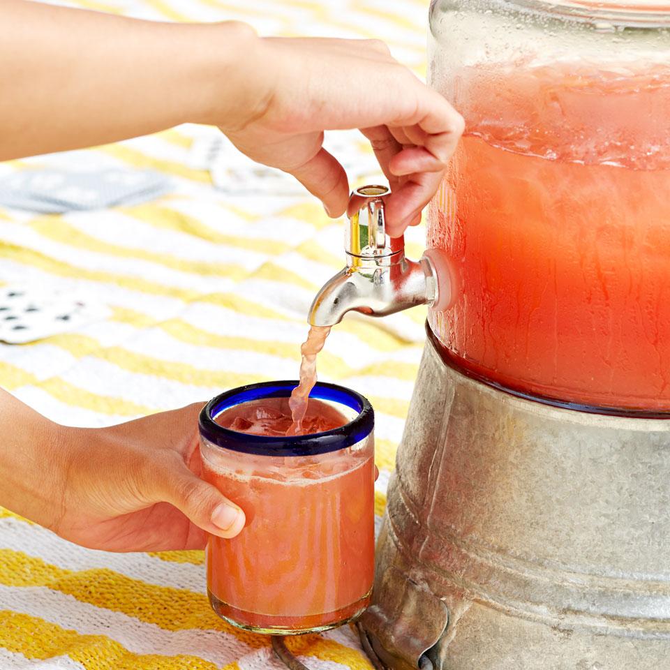 Cucumber-Peach Hibiscus Agua Fresca Trusted Brands