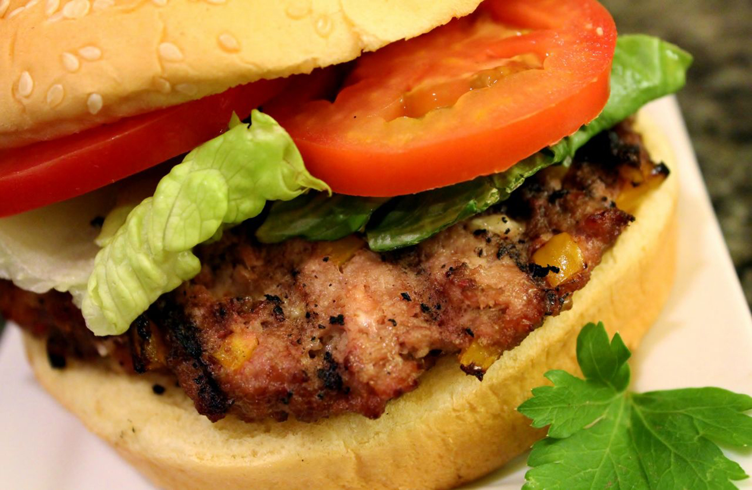BBQ Feta and Hot Banana Pepper Turkey Burgers