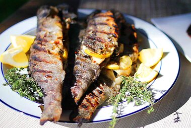 grilled whole stuffed trout recipe