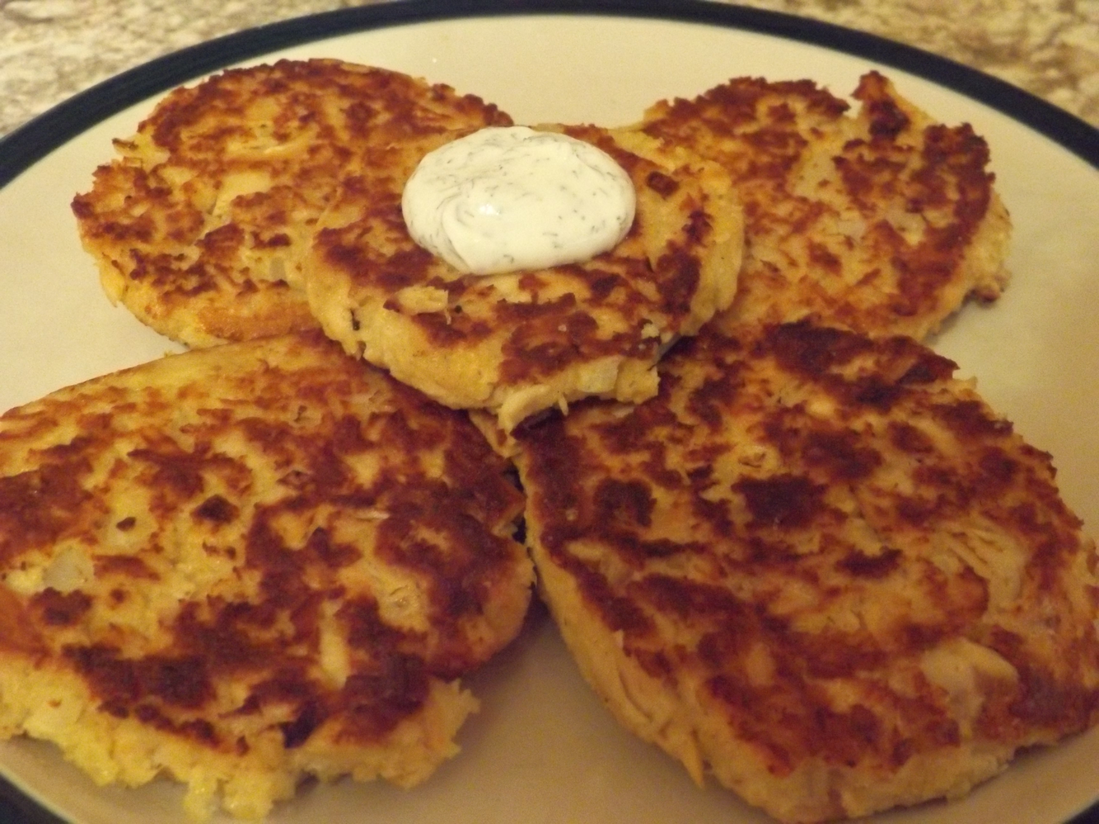 Salmon Patties With Dill Sauce Jeanne O'Dell