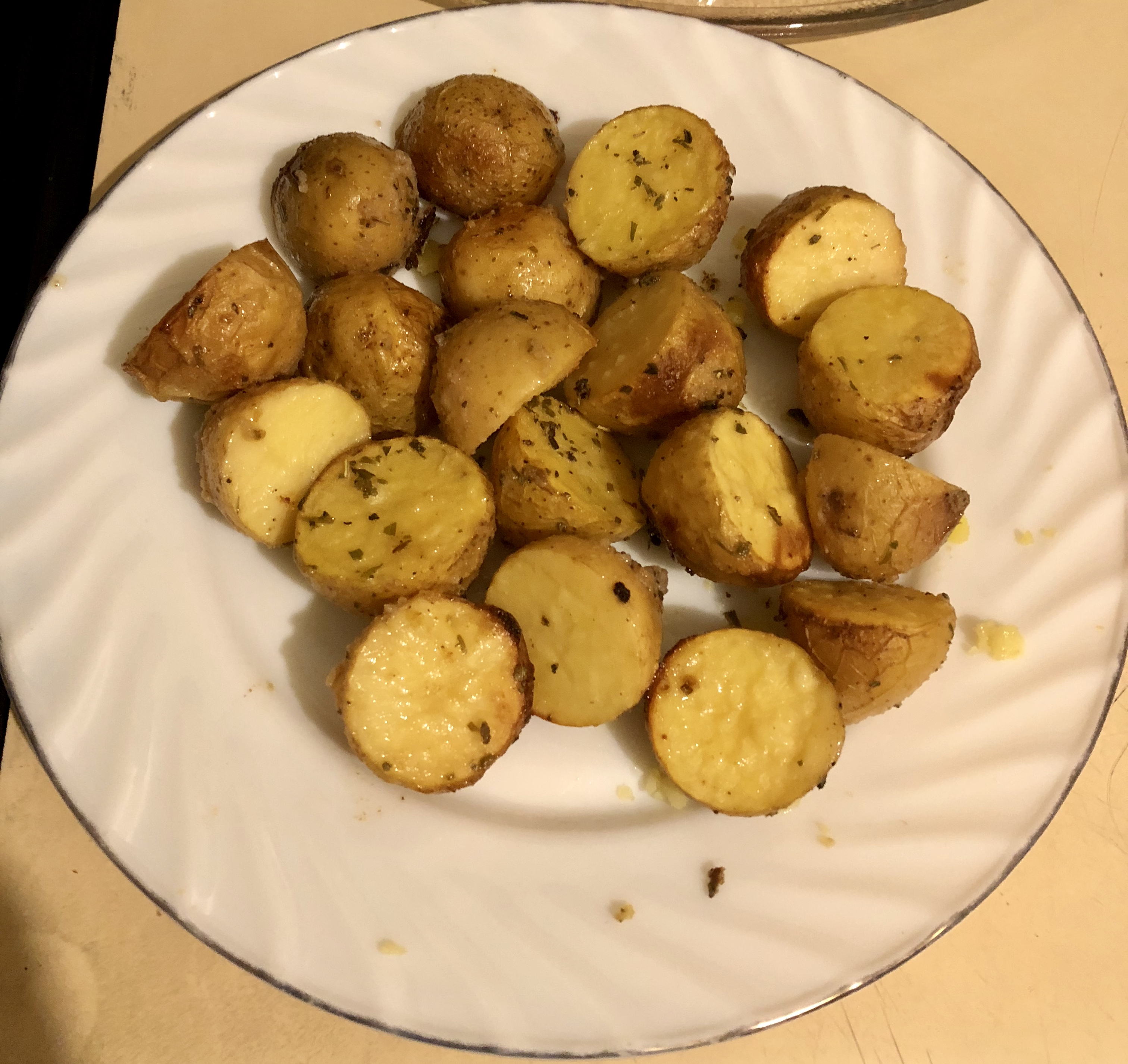 Garlic and Vinegar Roasted Potatoes