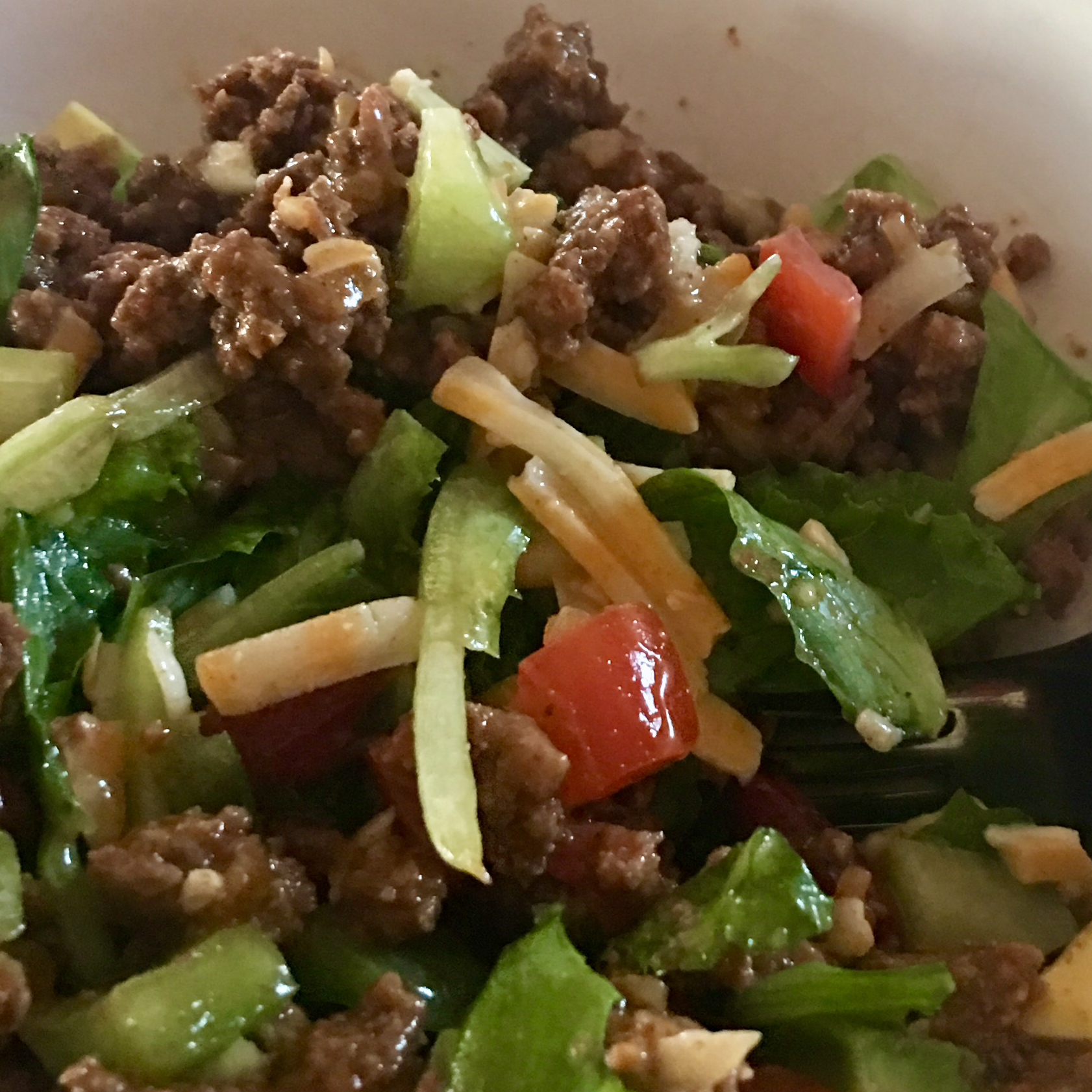 Taco Salad with Lime Vinegar Dressing Vikki Johnson