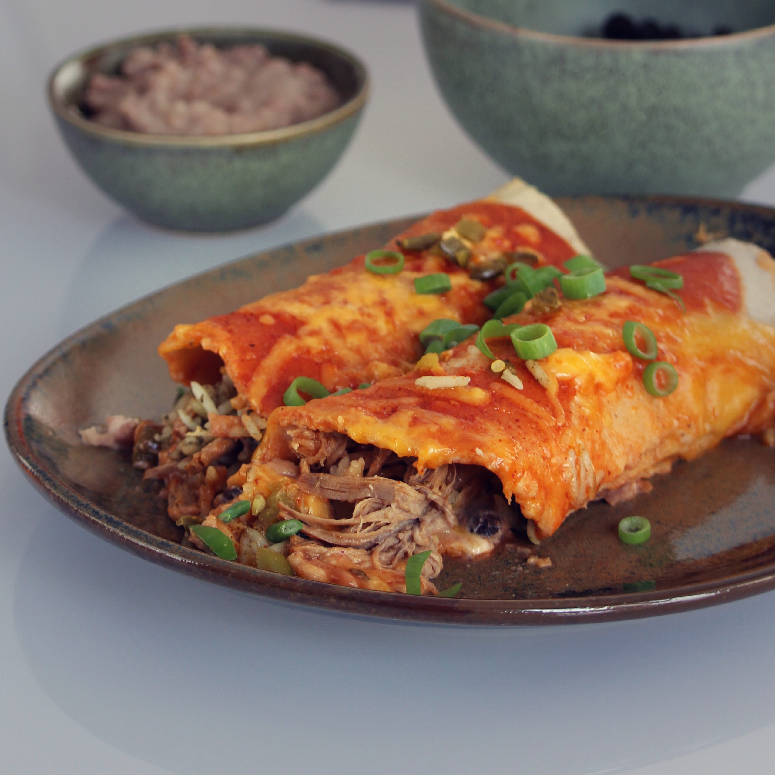 Tequila Slow-Cooked Beef Enchiladas
