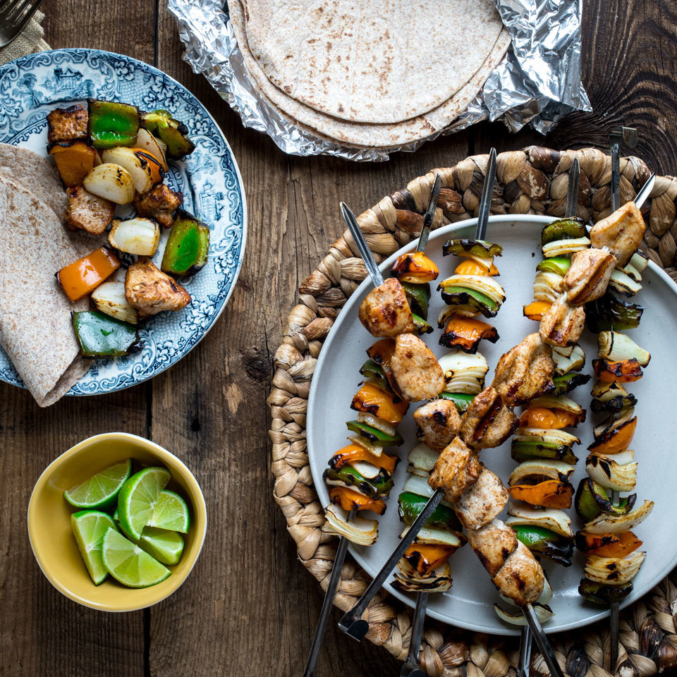 Chicken Fajita Kebabs Katie Webster