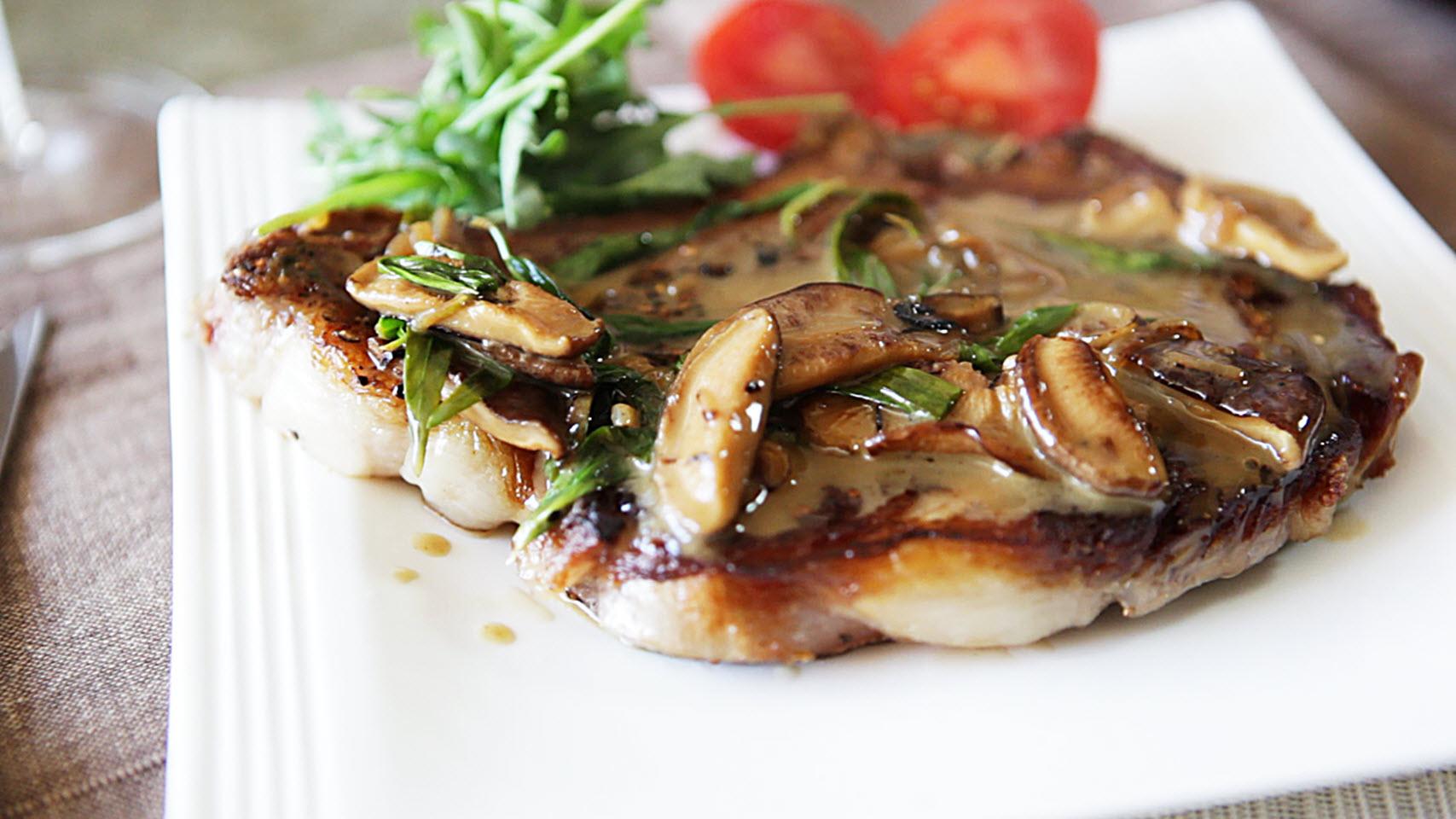 Sirloin Steak with Mushrooms brandon
