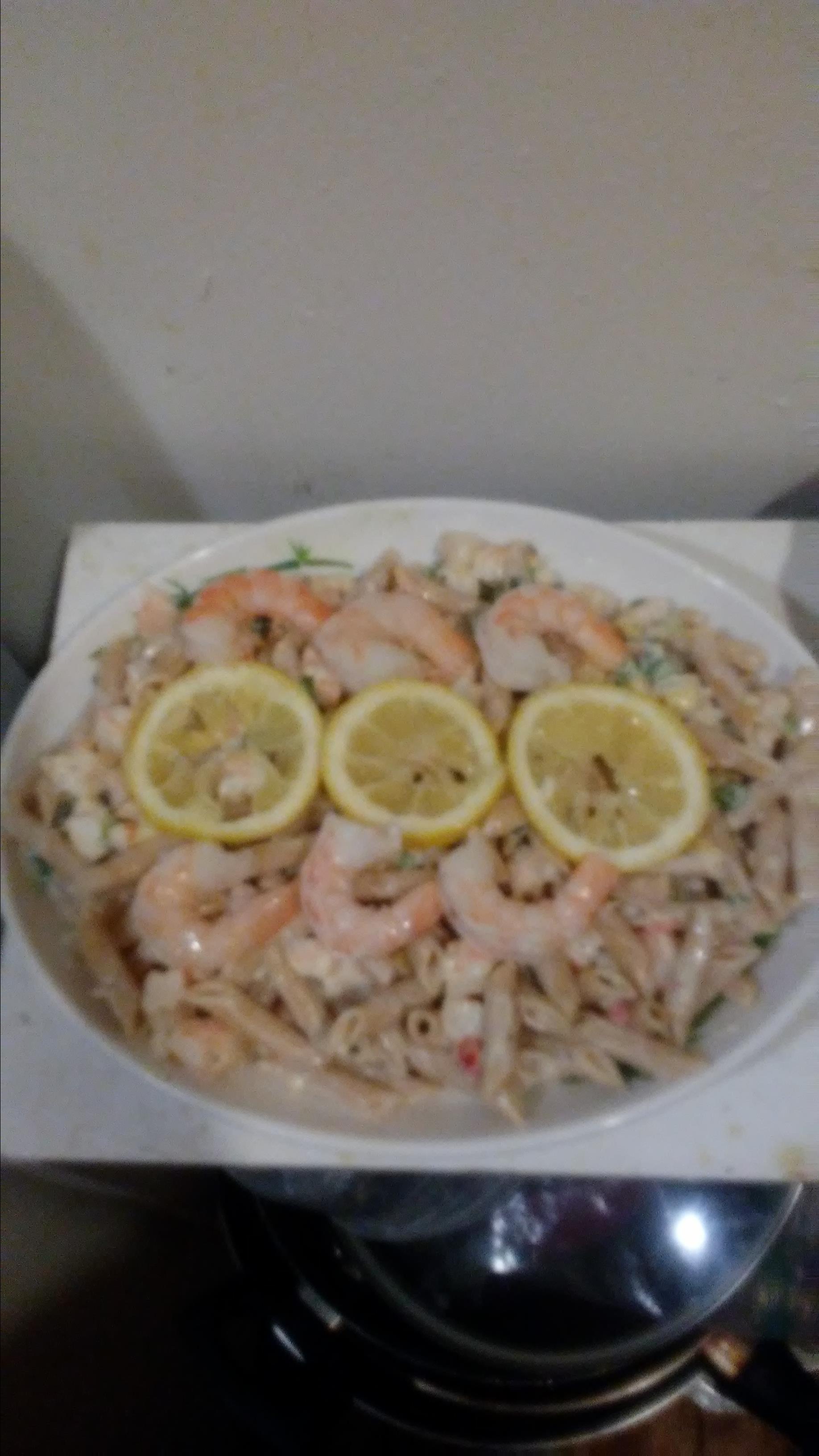 Shrimp Pasta Salad With a Creamy Lemon Dressing robert bates
